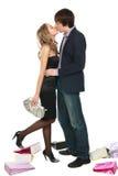 товарищеские поцелуи девушки Стоковая Фотография RF