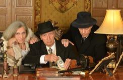 Товарищи гангстеров в ретро стиле Стоковая Фотография RF