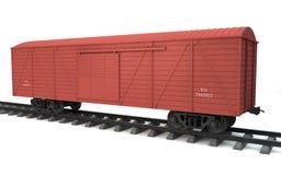 Товарный вагон на белизне Стоковая Фотография RF