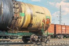 Товарный вагон на железной дороге Стоковое Фото