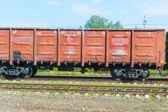 Товарный вагон на железной дороге стоковые фото