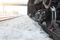 Товарный вагон на станции Стоковое Фото