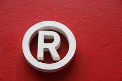 товарный знак r зарегистрированный Стоковое Изображение
