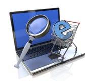 Товары поиска онлайн иллюстрация штока