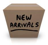 Товар продуктов новой картонной коробки прибытий самый последний Стоковые Фотографии RF