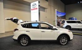 Тойота SUV совершенно новый на автосалоне Стоковые Изображения