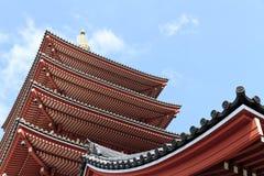 токио виска senso ji японии asakusa Стоковые Изображения