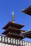 токио виска senso ji японии asakusa Стоковое Изображение RF