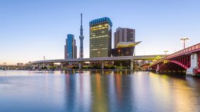 Токио, горизонт Японии акции видеоматериалы