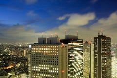 токио ночи городского пейзажа Стоковое Изображение RF