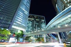 токио ночи города стоковая фотография rf