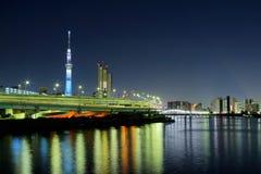 токио ночи города стоковое фото