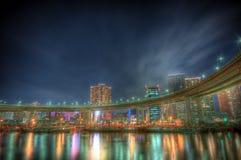 токио ночи ландшафта стоковые фотографии rf