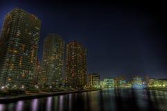 токио ночи ландшафта hdr стоковые фотографии rf