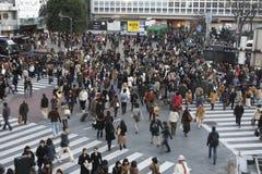 Токио 12-ое февраля 2012: Скрещивание Shibuya Стоковые Изображения