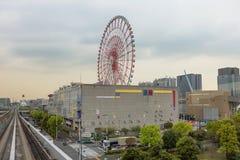 Токио Остров Odaiba Колесо Ferris стоковая фотография