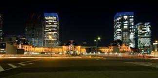 токио станции ночи Стоковая Фотография