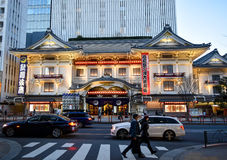 Токио театра Kabukiza Стоковые Фото