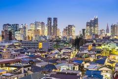 Токио Япония на западном Shinjuku Стоковые Фотографии RF