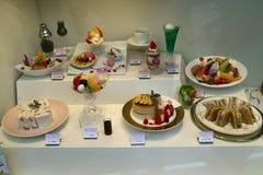 Токио, Япония - 12-ое мая 2017: Дисплей еды реплики в переднем o Стоковое фото RF
