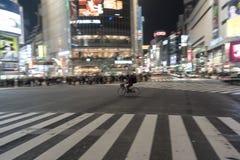ТОКИО, ЯПОНИЯ - 28-ОЕ ЯНВАРЯ 2017: Район Shibuya в токио Известное и самое занятое пересечение в мире, Япония Скрещивание Shibuya Стоковая Фотография RF