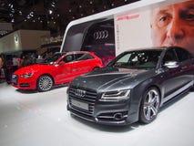 ТОКИО, ЯПОНИЯ - 23-ье ноября 2013: Будочка на Audi Стоковые Изображения