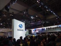 ТОКИО, ЯПОНИЯ - 23-ье ноября 2013: Будочка на Subaru Стоковые Фотографии RF