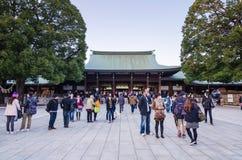 Токио, Япония - 23-ье ноября 2013: Туристское посещение Meiji Jingu Shr Стоковое Фото