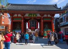 Токио Asakusa Главный вход виска Senso-JI Стоковое Фото