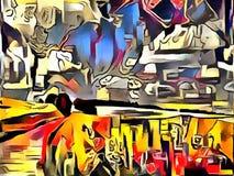 Толкование абстракции ландшафта Стоковое Изображение RF
