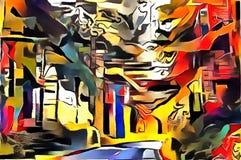 Толкование абстракции ландшафта Стоковые Фотографии RF