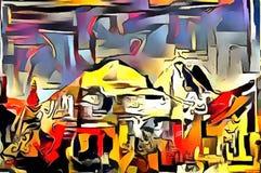 Толкование абстракции ландшафта Стоковое Изображение