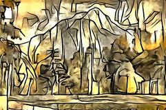 Толкование абстракции ландшафта Стоковые Фото