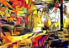 Толкование абстракции ландшафта Стоковые Изображения