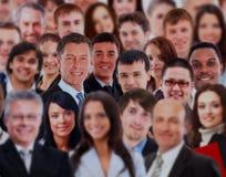 Толпа бизнесмены стоковое изображение rf
