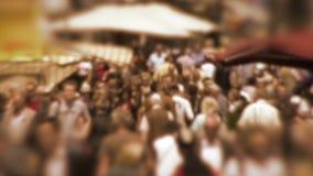 Толпа в замедленном движении