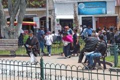 Толпа в парке стоковые изображения rf
