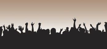 толпа нагнетенная вверх Стоковая Фотография RF