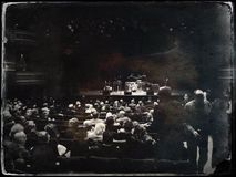 Толпа на театре Стоковое фото RF