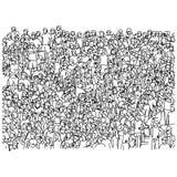 Толпа поклонников футбола веселя на ske иллюстрации вектора стадиона Стоковая Фотография RF