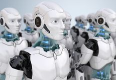 Толпа роботов бесплатная иллюстрация