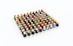 толпа 100 шаржей Стоковая Фотография