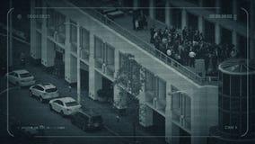 Толпа CCTV людей на балконе сток-видео