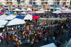 Толпа Thaipusam Стоковые Фотографии RF