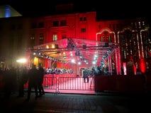 Толпитесь ждать знаменитости на красном ковре во время Berlinale 2018 Стоковая Фотография