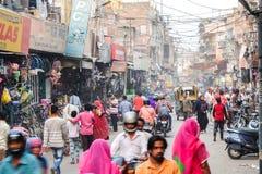 Толпить улица рынка в Джодхпур стоковое изображение