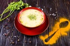 Толстый горячий суп стоковые фотографии rf