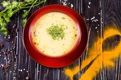 Толстый горячий суп стоковые изображения rf
