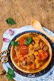 Толстый суп с мясом стоковое изображение