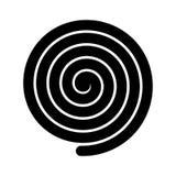 Толстый черный спиральный символ Простой плоский элемент дизайна вектора Иллюстрация вектора